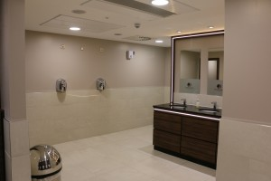 Taps and handwash area